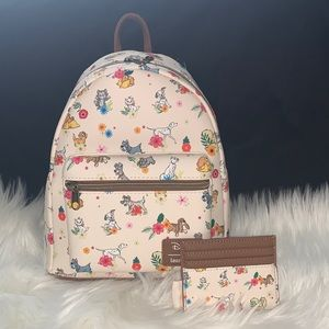 Loungefly Disney pets & florals backpack& …